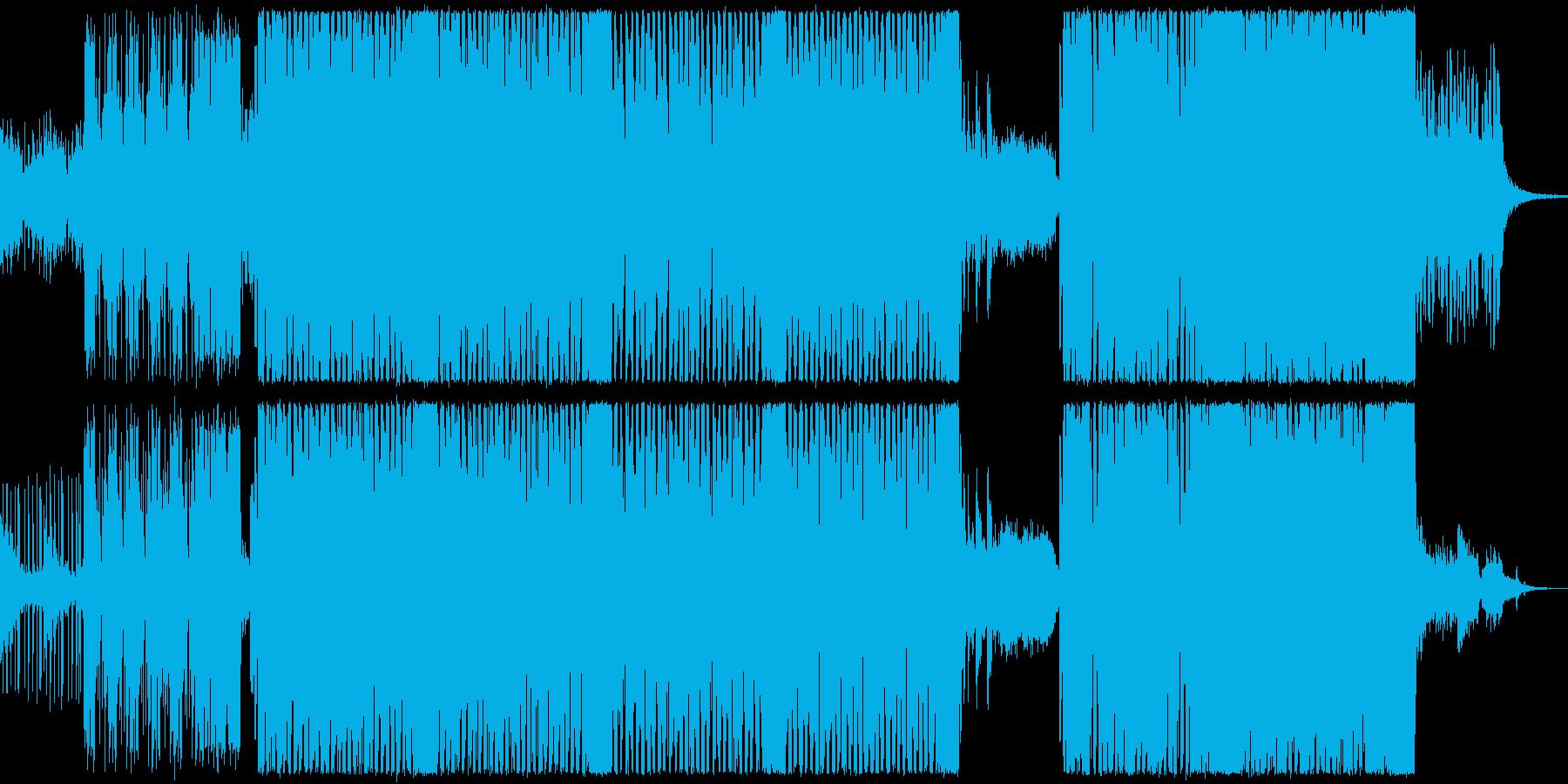カッコいい系のバトルソングの再生済みの波形