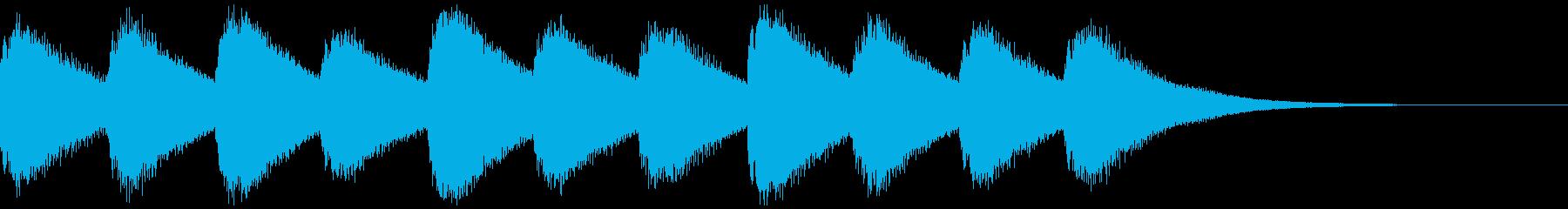 教会のベル 11時の再生済みの波形