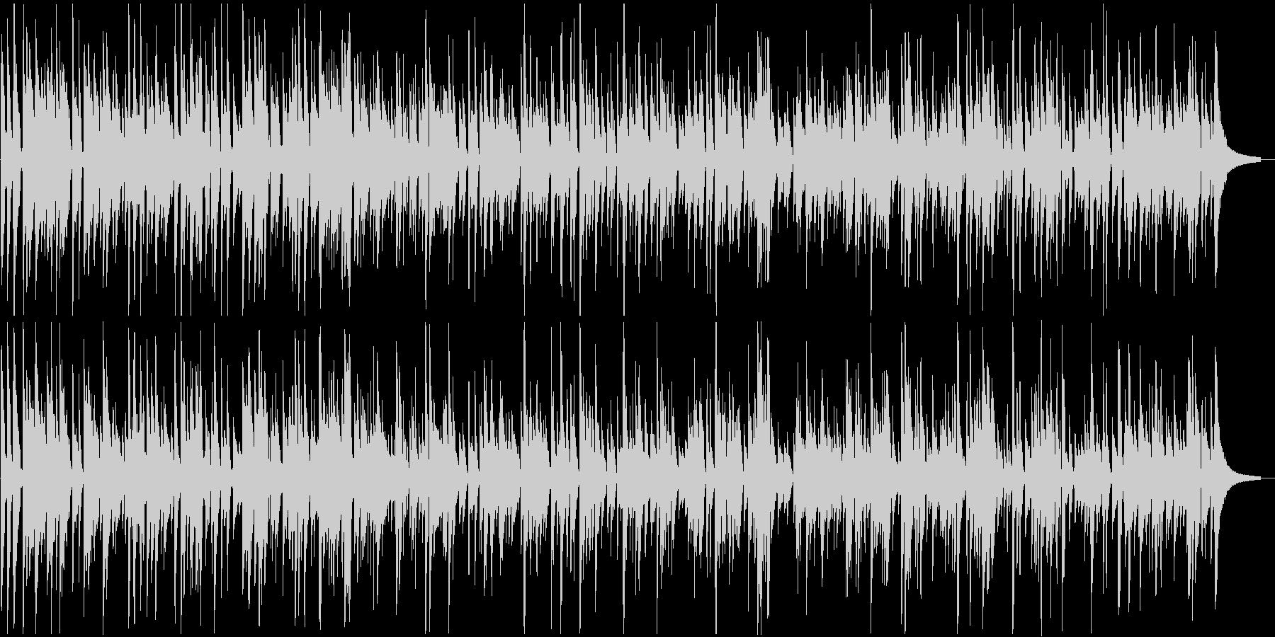ゆったりした癒し系ボサノバの未再生の波形