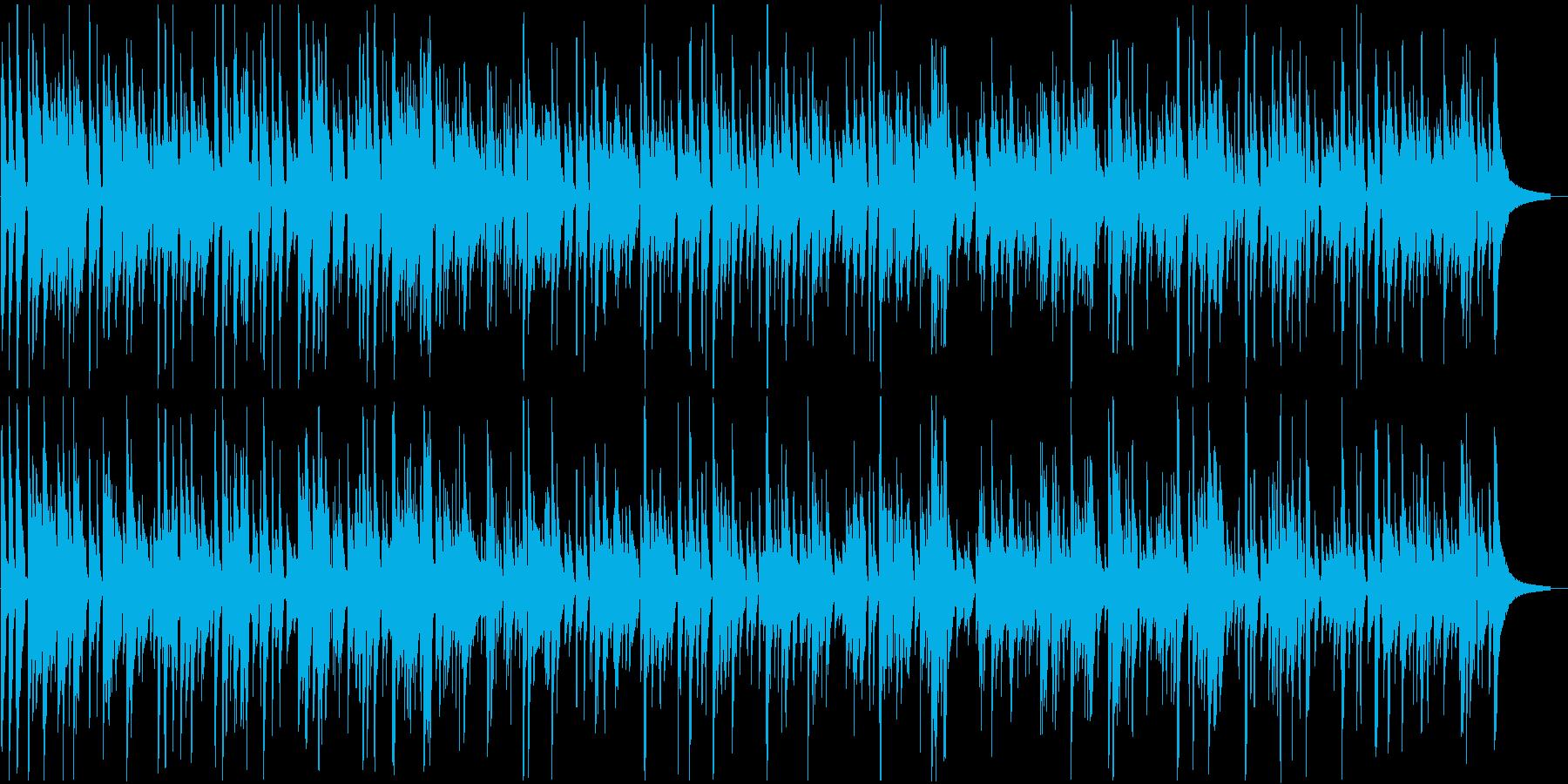 ゆったりした癒し系ボサノバの再生済みの波形