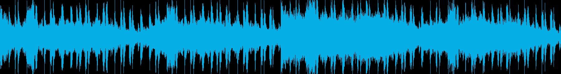教会風ゴシックな雰囲気のBGMの再生済みの波形