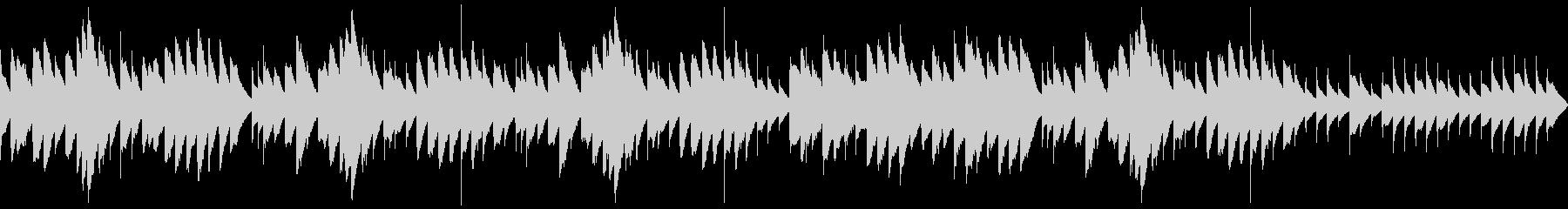 三拍子のマイナー調オルゴールの未再生の波形