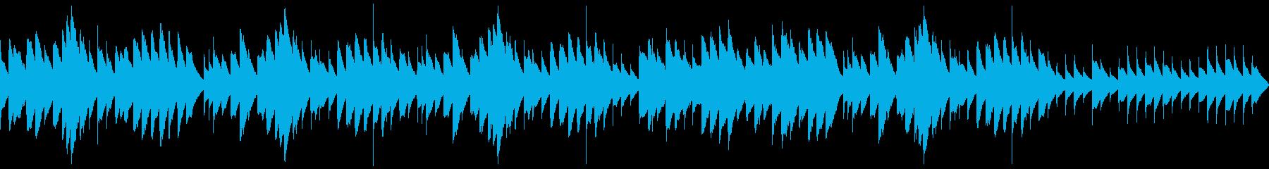 三拍子のマイナー調オルゴールの再生済みの波形