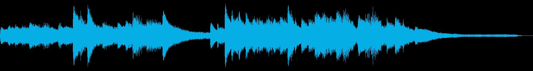 15秒の切ない和風ジングル20-ピアノの再生済みの波形