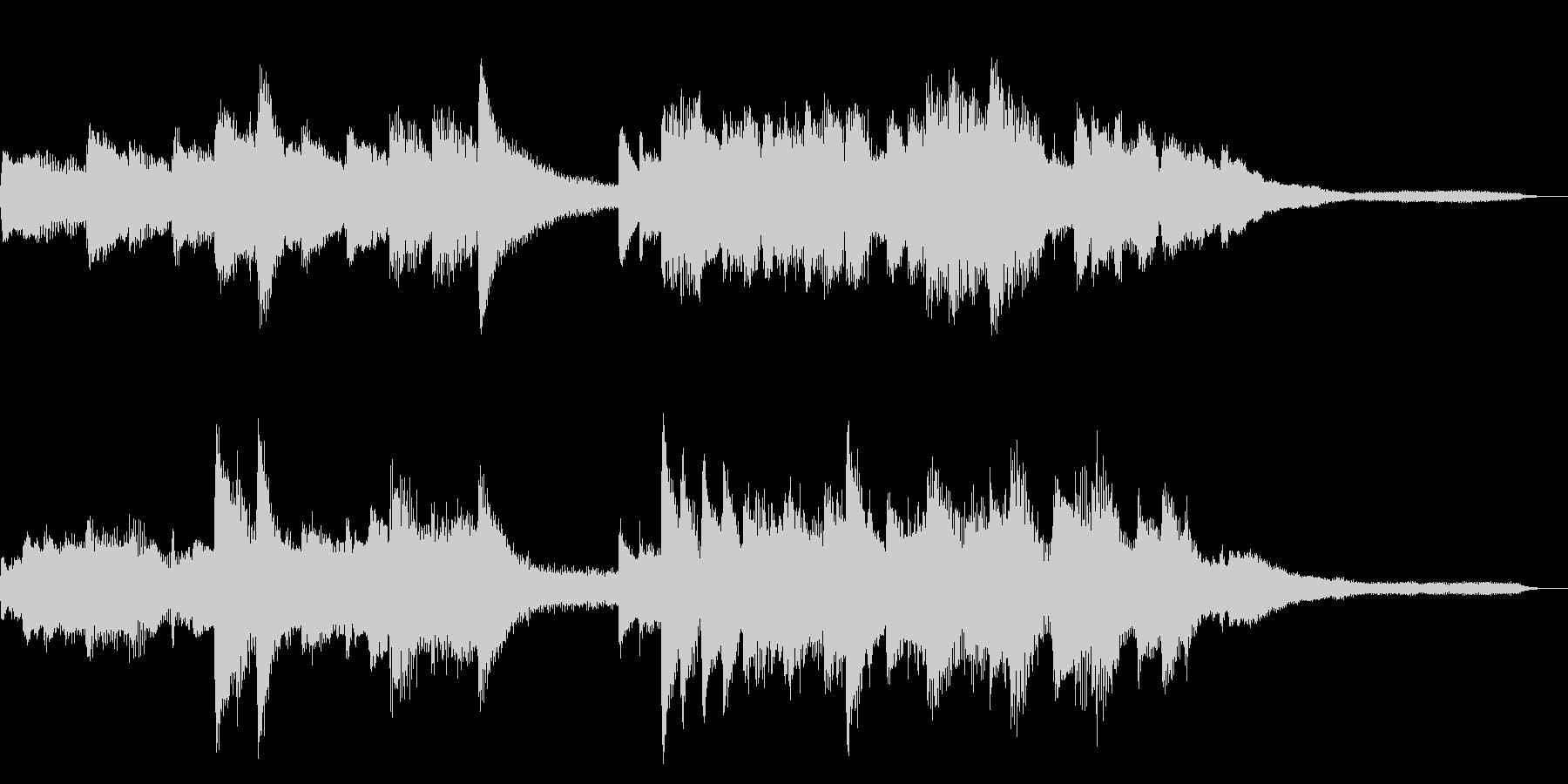 15秒の切ない和風ジングル20-ピアノの未再生の波形