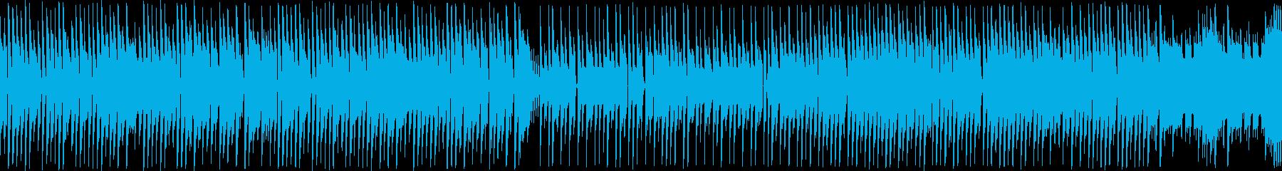 レトロゲーム風ポップで可愛いBGMループの再生済みの波形