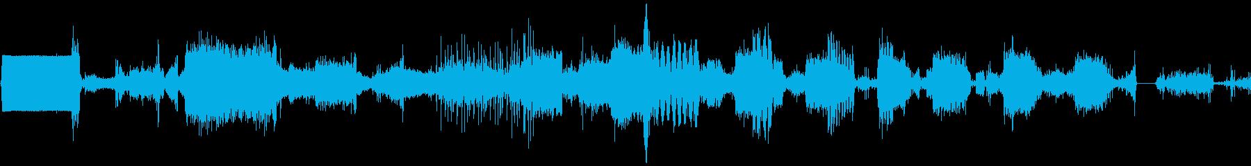 宇宙コンピューターハイテクデータ印刷の再生済みの波形