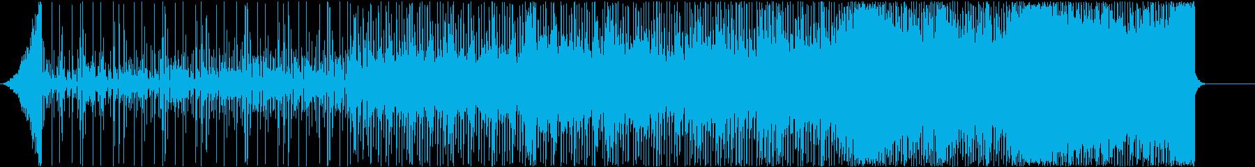ジャングルを疾走するようなOP BGMの再生済みの波形