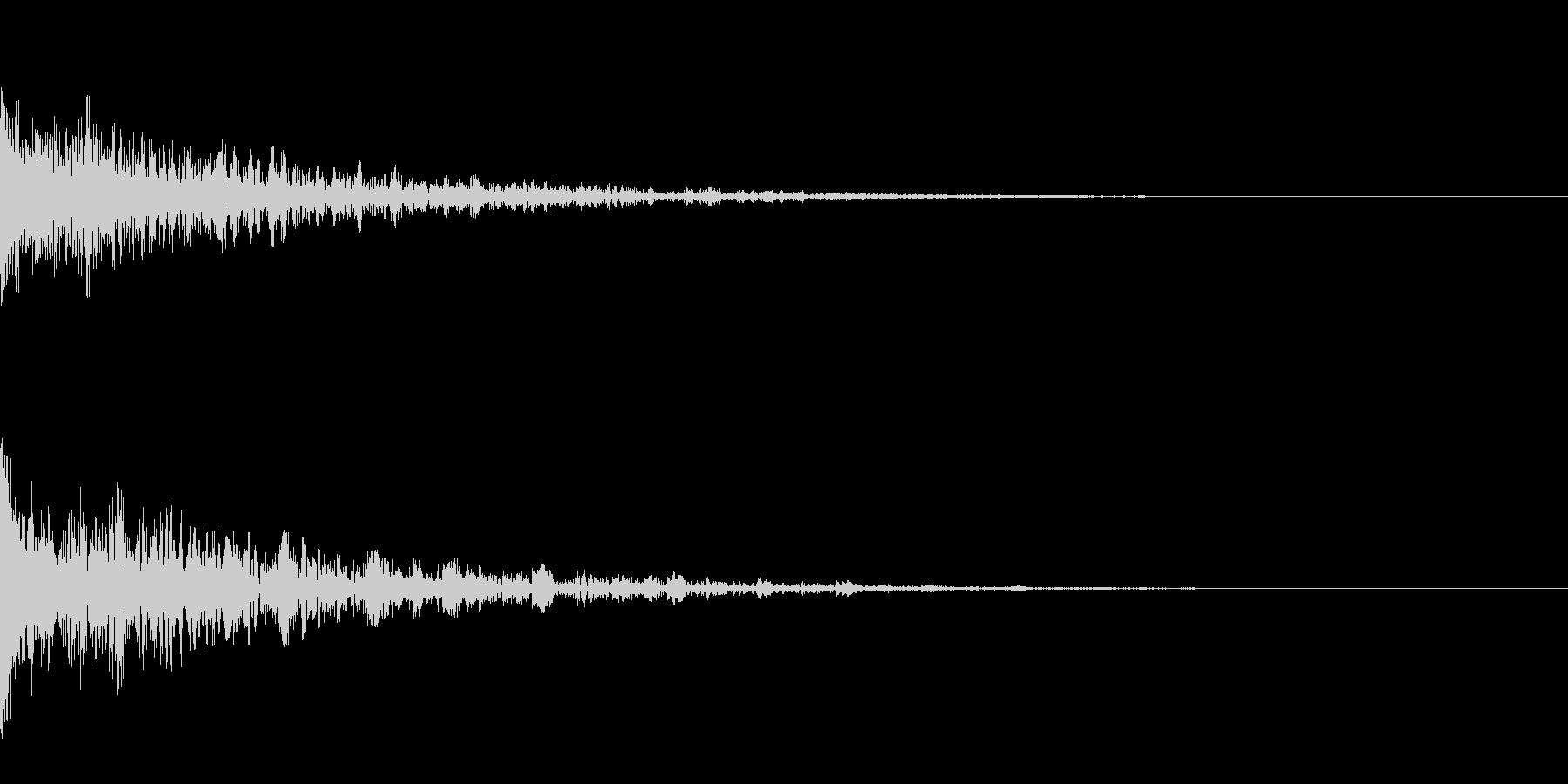 ドーン-32-2(インパクト音)の未再生の波形
