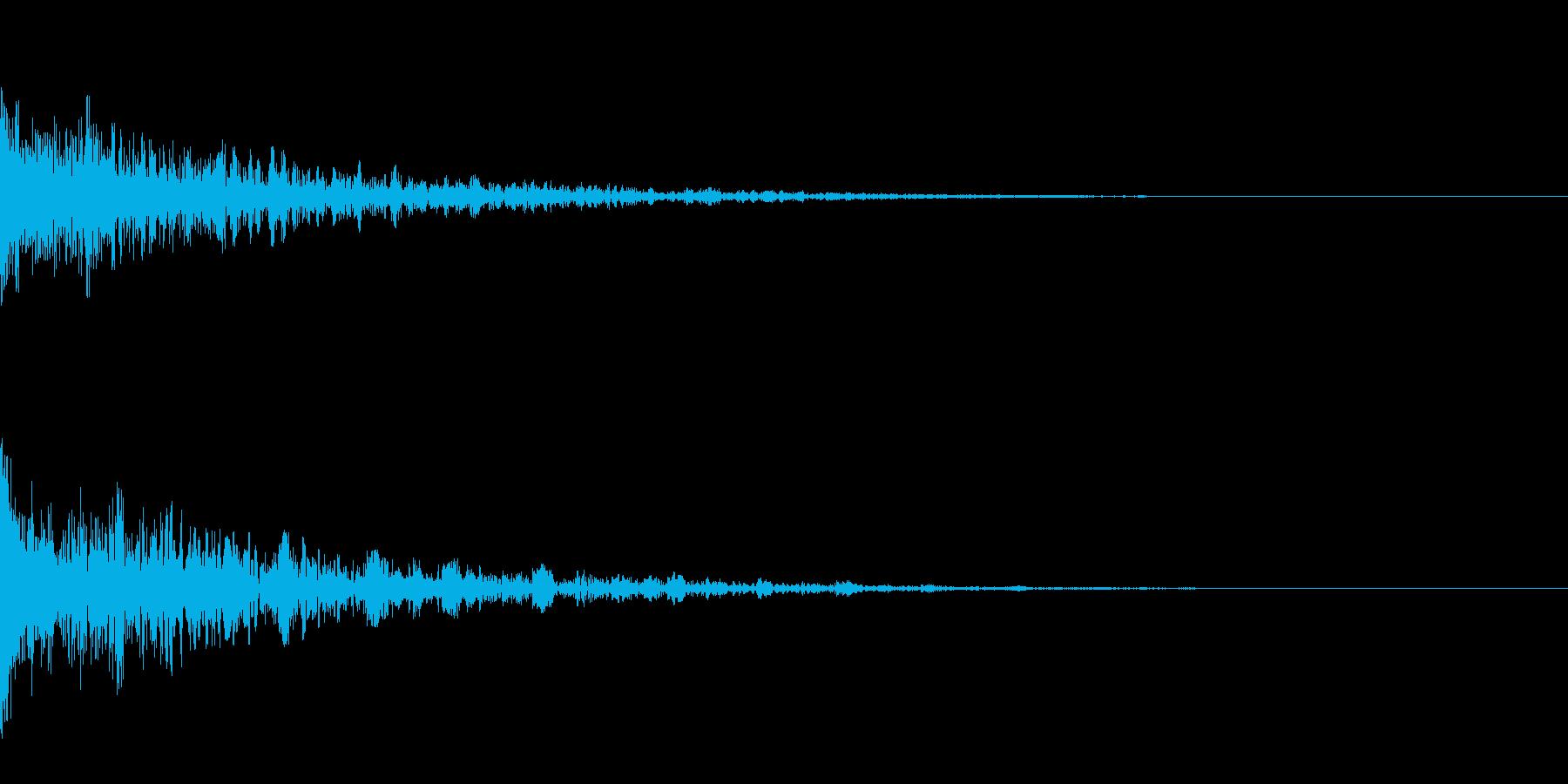 ドーン-32-2(インパクト音)の再生済みの波形