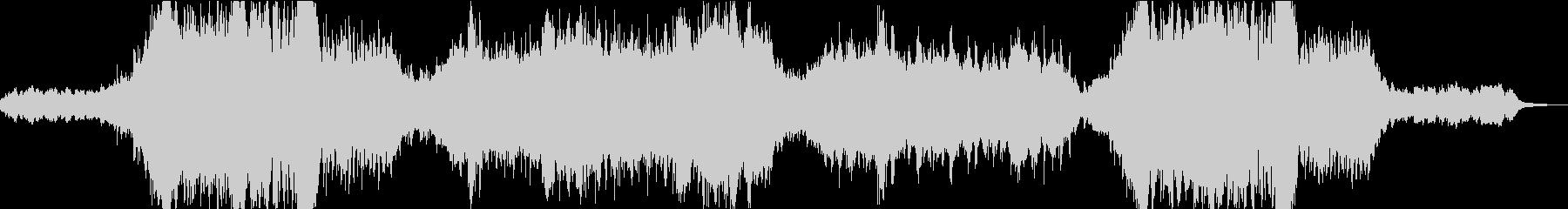 映像 明るくヒーロ感あるオーケストラの未再生の波形
