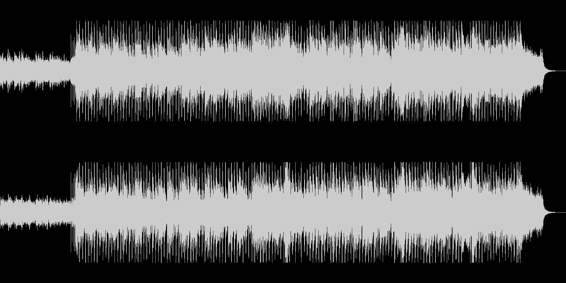オープニングにぴったりのクリスマスBGMの未再生の波形