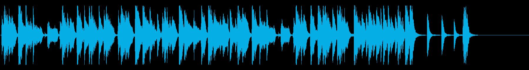 お洒落でリズミカルなジャズピアノ25秒の再生済みの波形