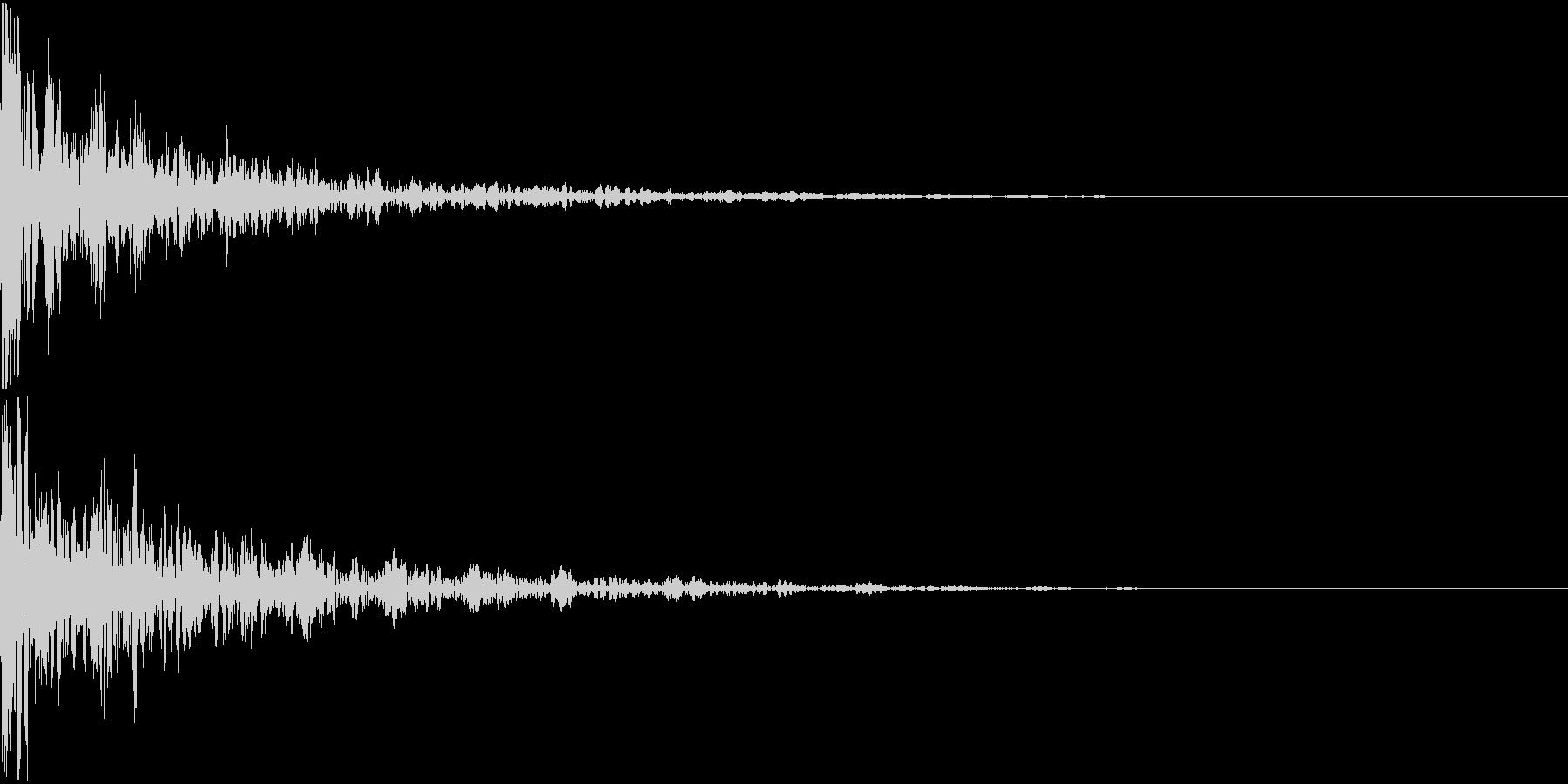 ドーン-25-2(インパクト音)の未再生の波形
