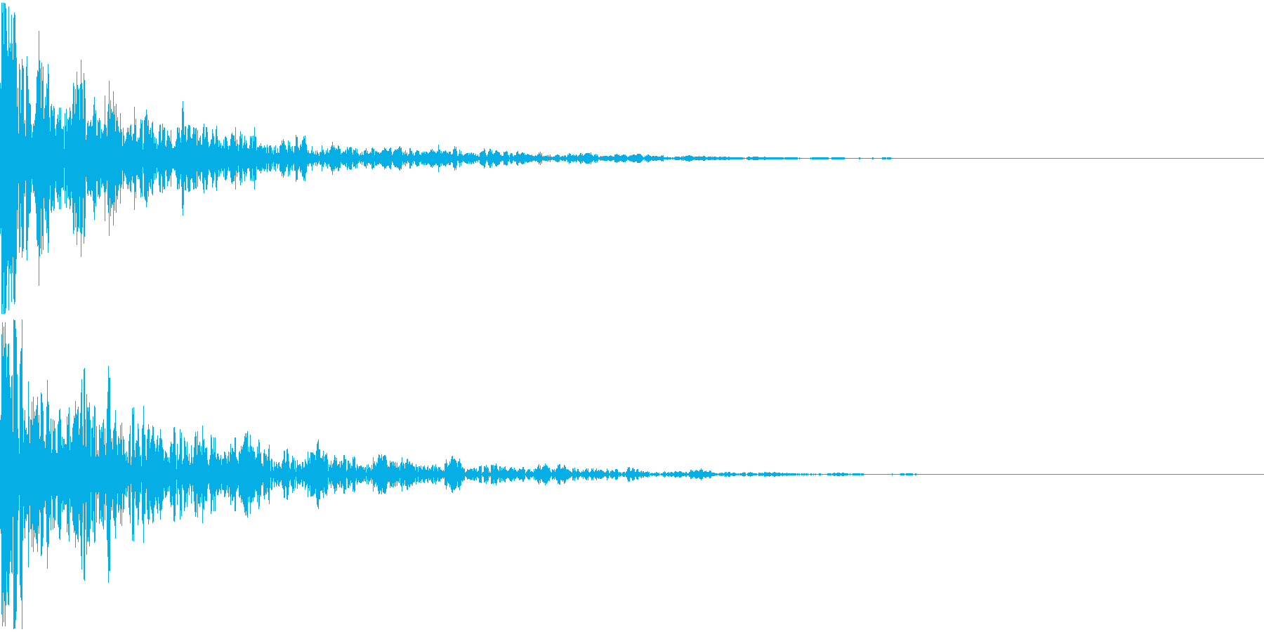 ドーン-25-2(インパクト音)の再生済みの波形