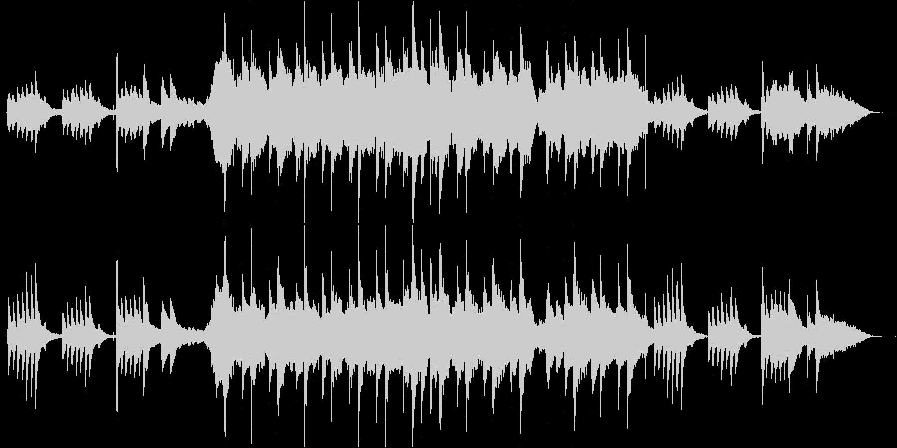 尺八とピアノがメインのバラードの未再生の波形