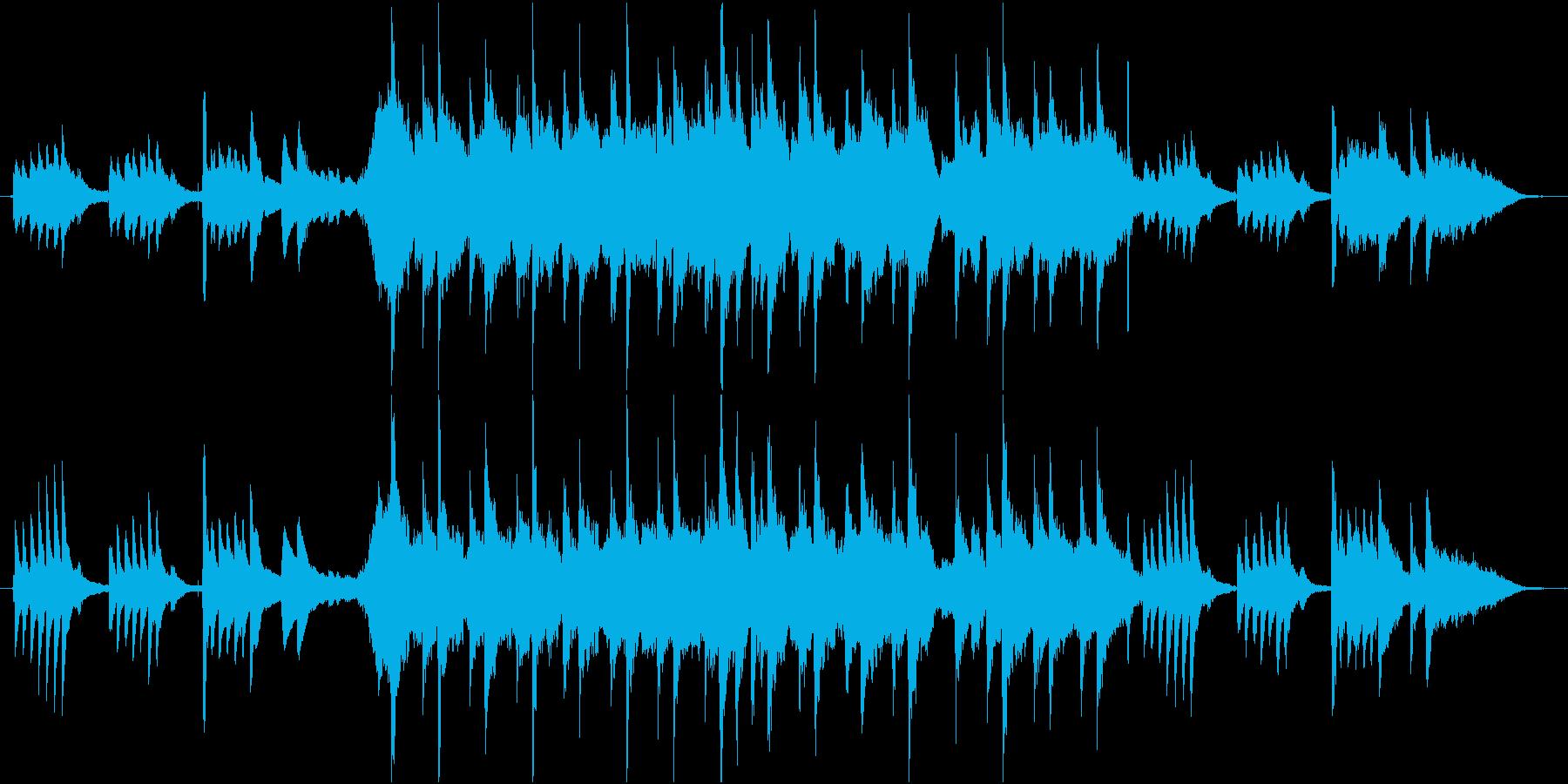 尺八とピアノがメインのバラードの再生済みの波形