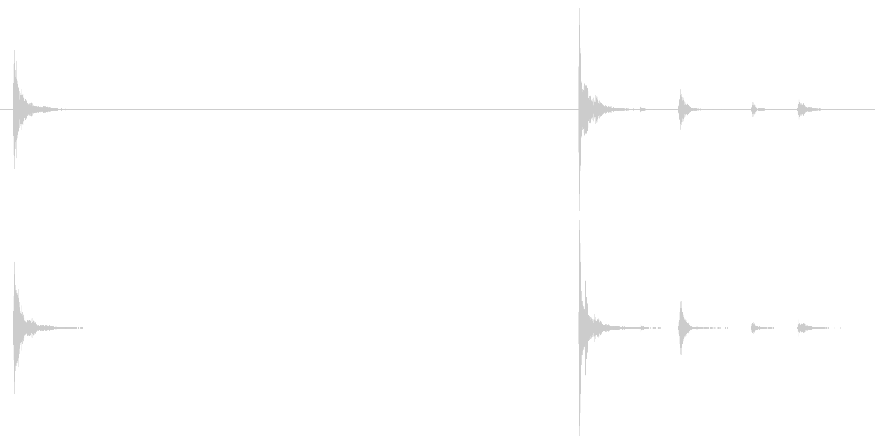 【生録音】お箸の音 24 手の中で弄ぶの未再生の波形