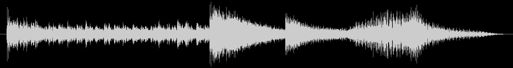 打楽器とハープのコミカルサウンドロゴの未再生の波形