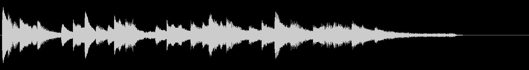 フレッシュな雰囲気のピアノソロジングル3の未再生の波形