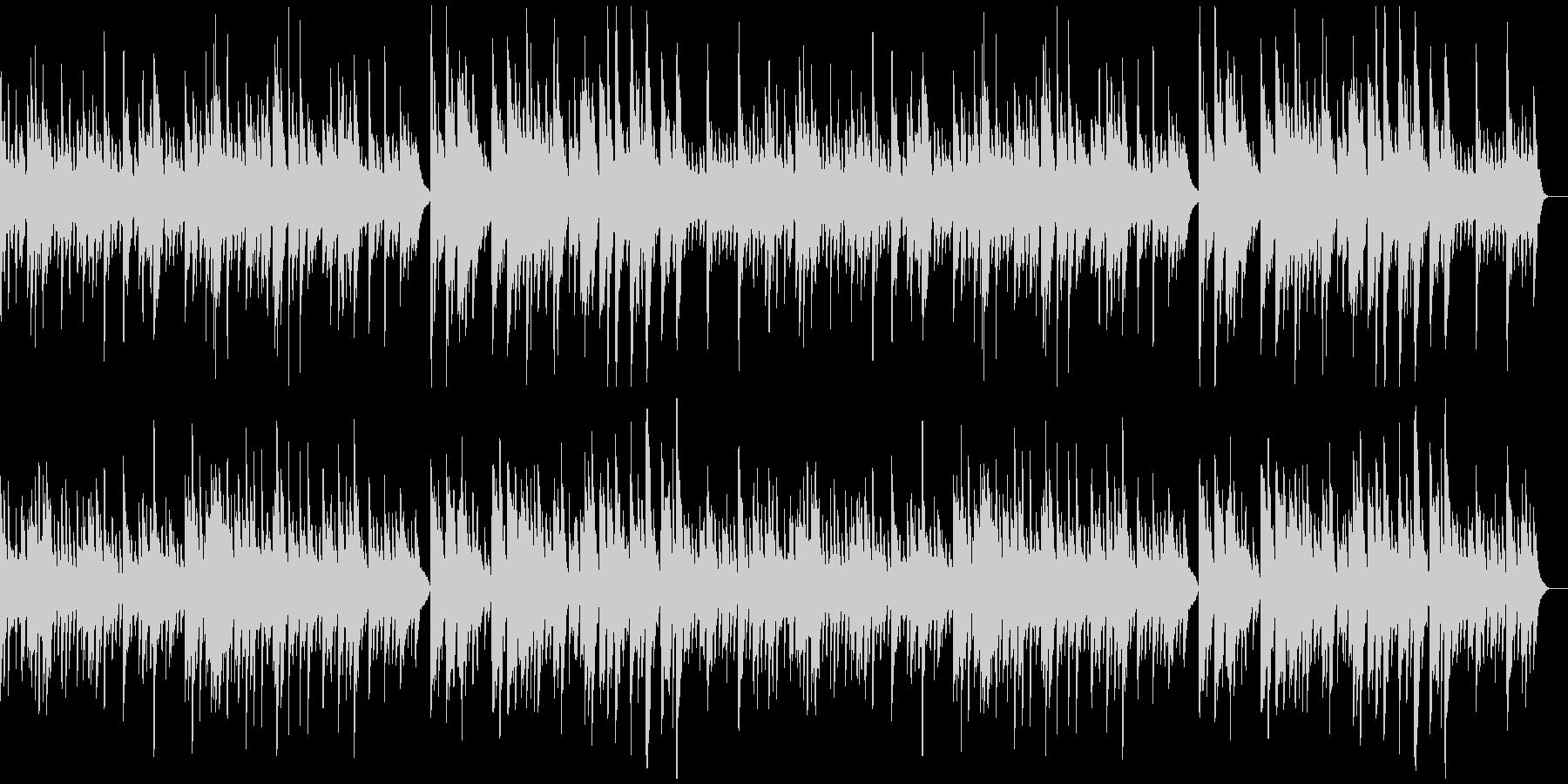 ほんわかした温もりのあるソロ・ピアノ曲の未再生の波形