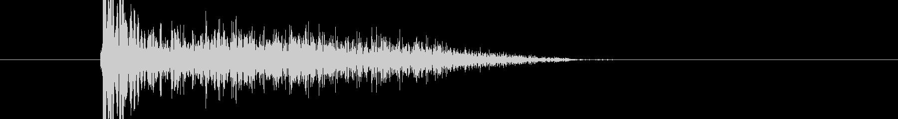 バシ ドン なパンチ、キックの打撃音04の未再生の波形