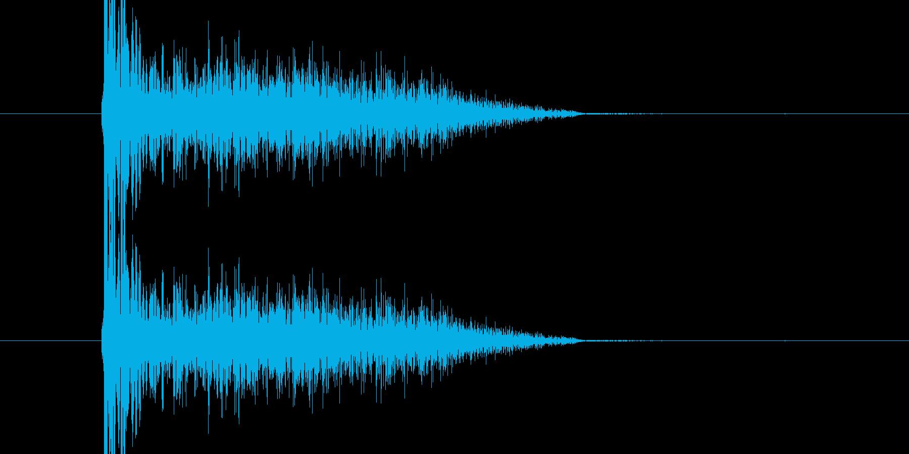バシ ドン なパンチ、キックの打撃音04の再生済みの波形