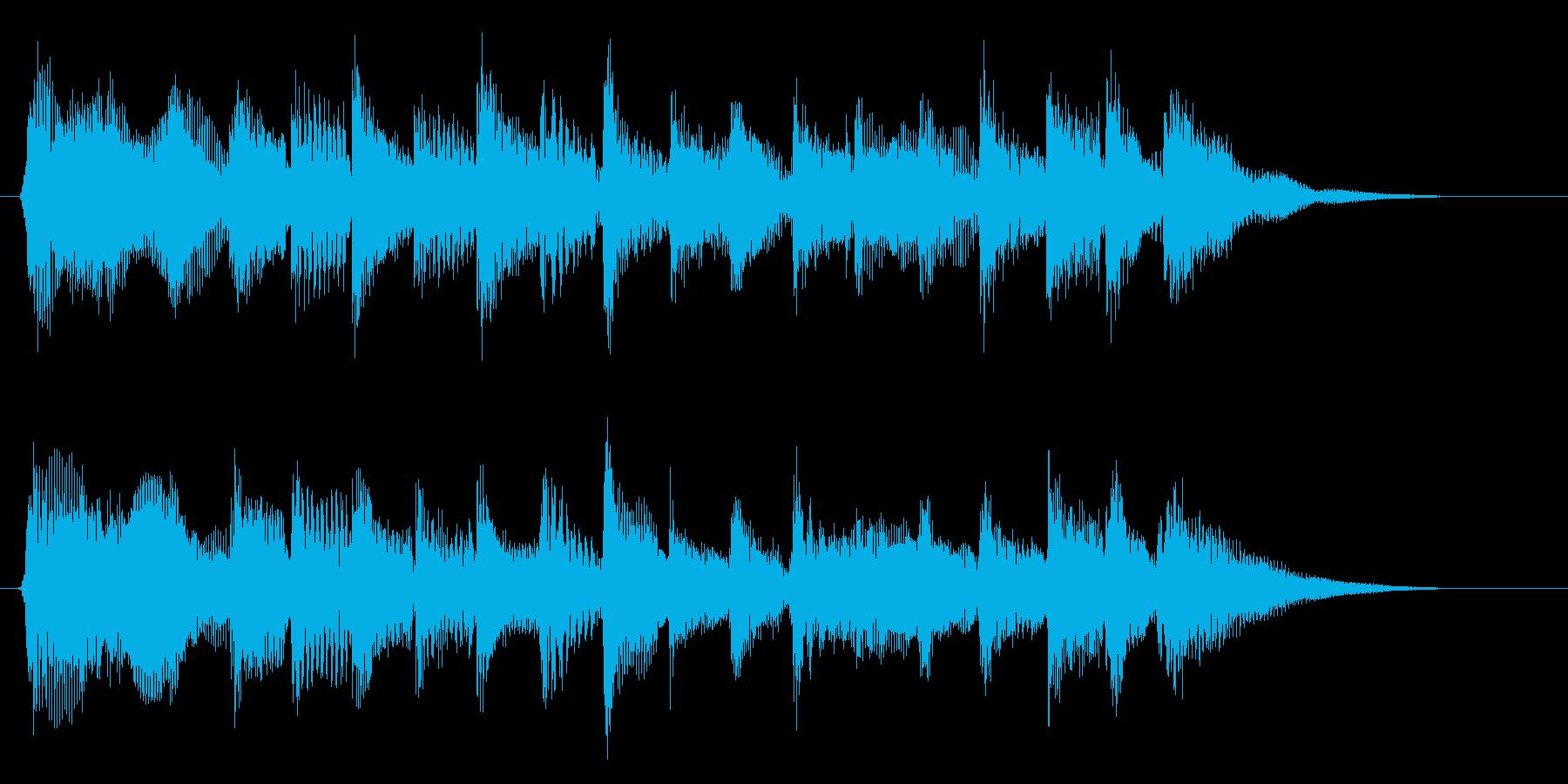 生演奏によるアコギの豊かで温かなジングルの再生済みの波形