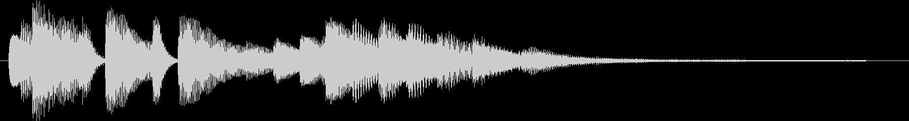 ピアノのジングル アイキャッチ、CM入りの未再生の波形