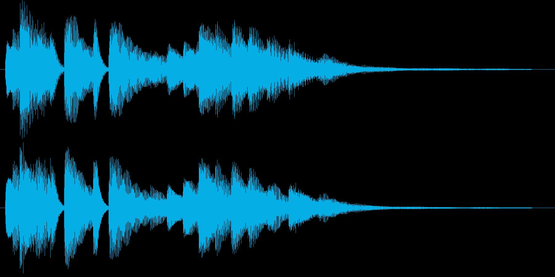 ピアノのジングル アイキャッチの再生済みの波形