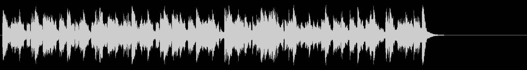 コミカルなほのぼのポップ(サビ~Aメロ)の未再生の波形