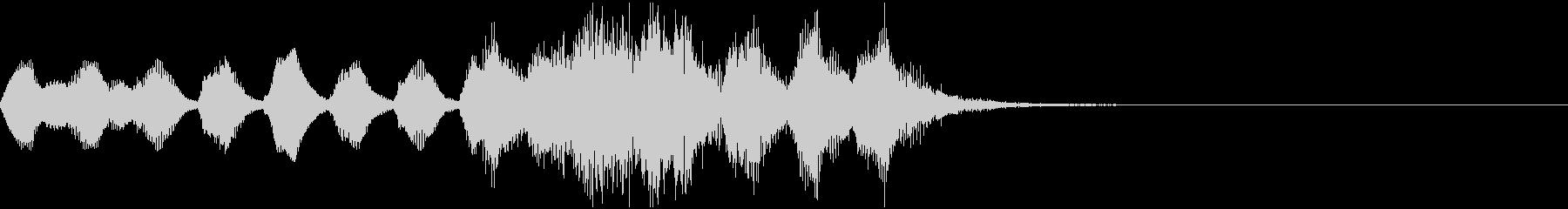 オーケストラの明るくコミカルなジングルの未再生の波形