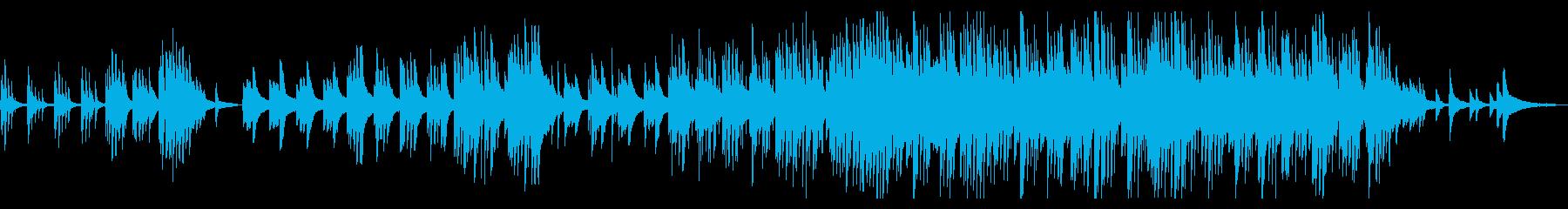 切なくも温かい夏をイメージしたピアノ曲の再生済みの波形