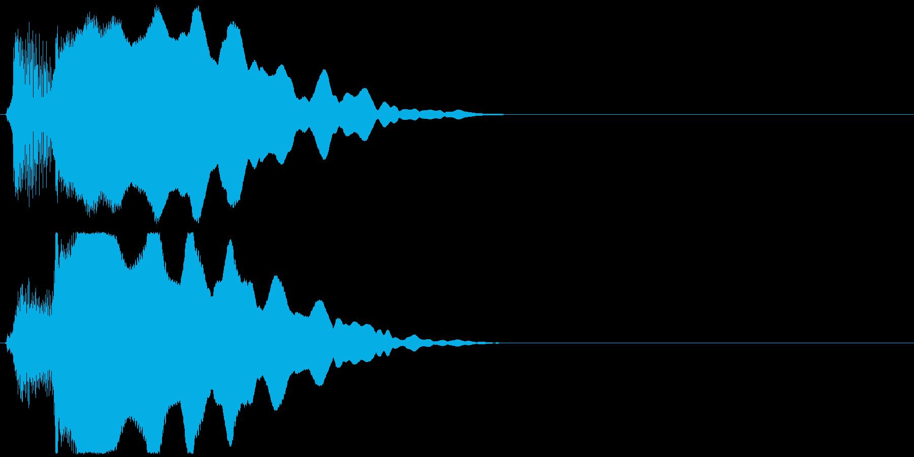 ほわーんの再生済みの波形