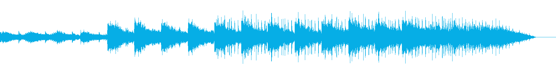 冷たい空気感のアンビエントの再生済みの波形