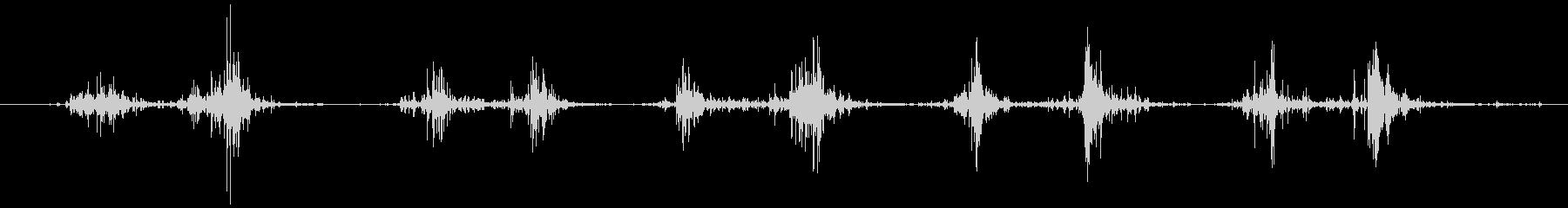 タブレッド菓子を出す音2 ステレオの未再生の波形