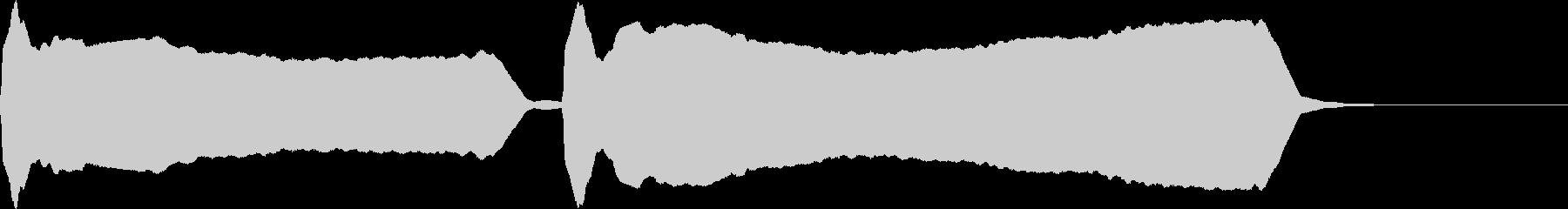 豆腐屋さんのラッパ(ゆっくり)の未再生の波形