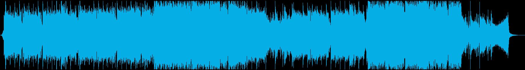 ティンホイッスルがメインの切ない曲の再生済みの波形