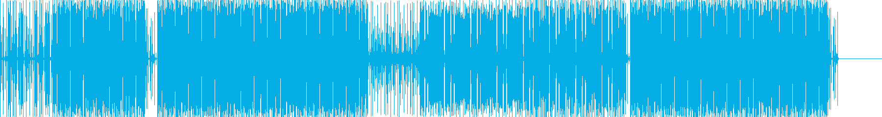 サンプリングされたサウンドとドラム...の再生済みの波形
