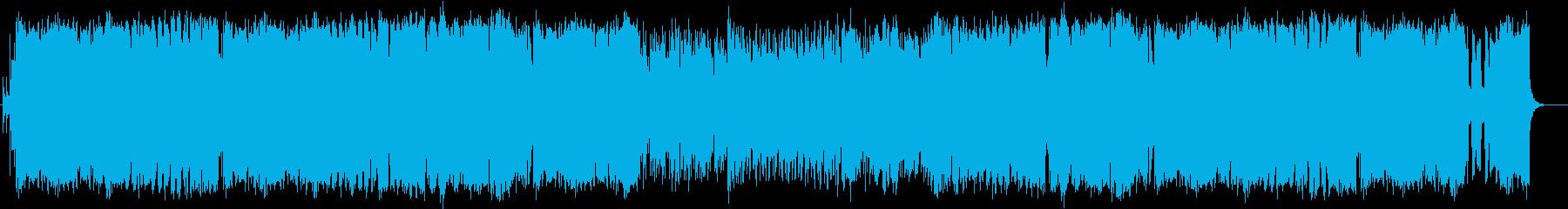 トランペットの激しいラテン風フュージョンの再生済みの波形