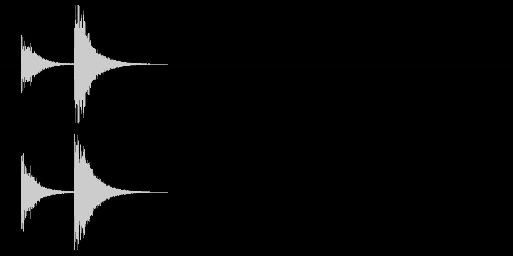 音侍「チチン」お囃子祭りの当り鉦の連打音の未再生の波形