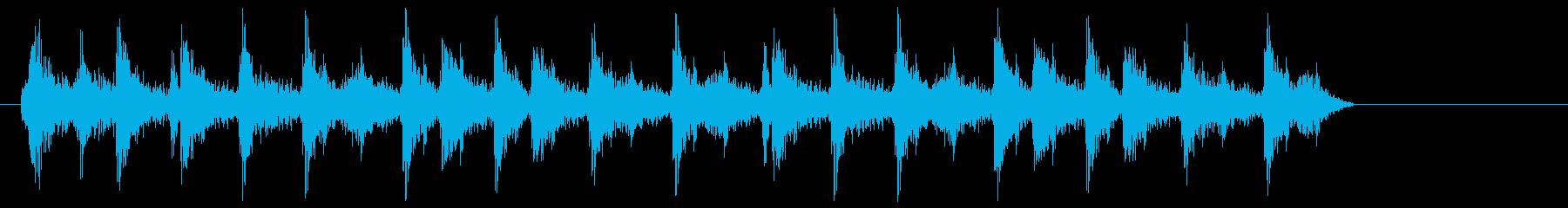 ジリリリリ(ゼンマイのねじを巻く音04)の再生済みの波形
