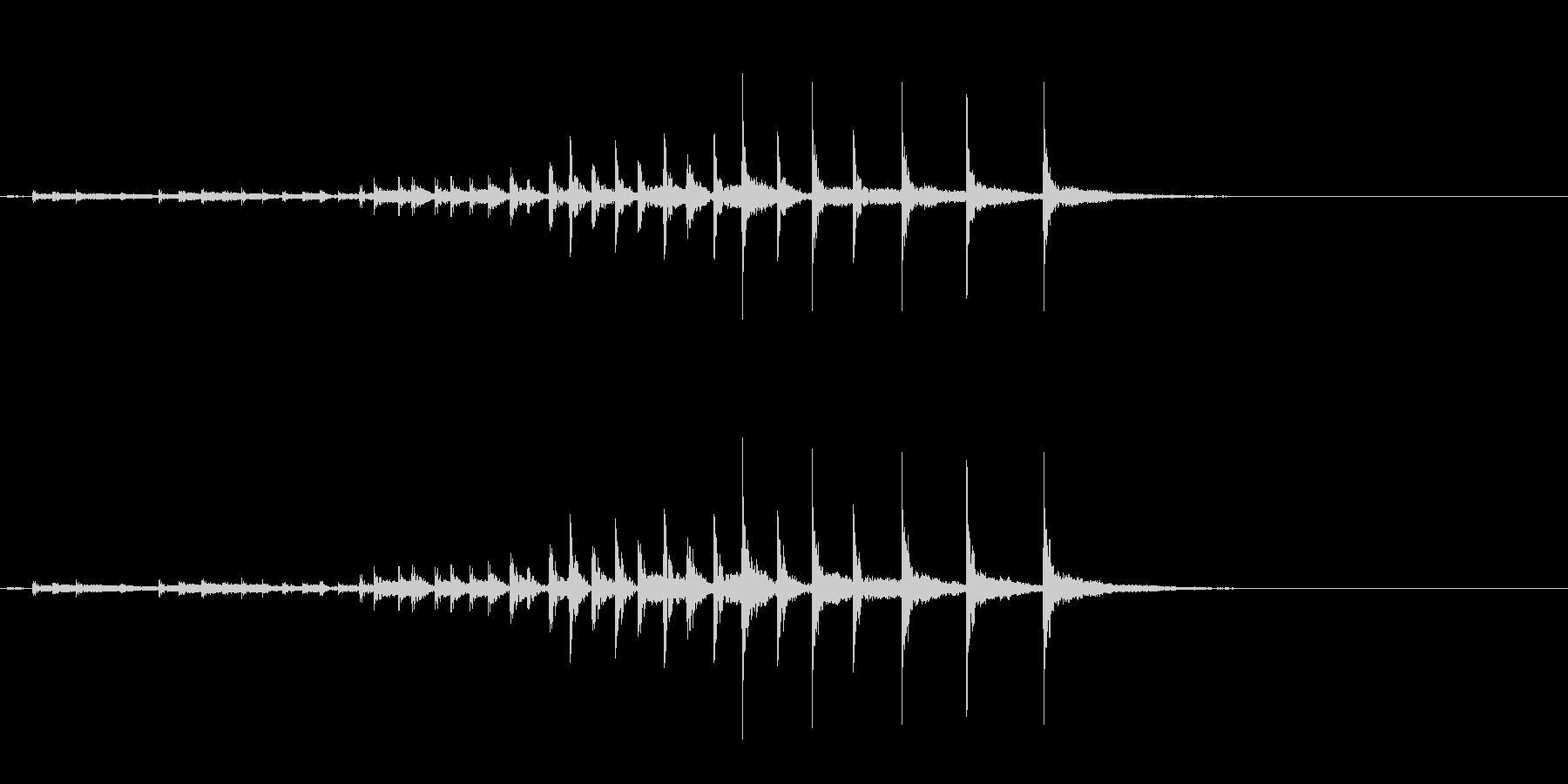 祭囃子や邦楽囃子の豆太鼓フレーズ音+FXの未再生の波形
