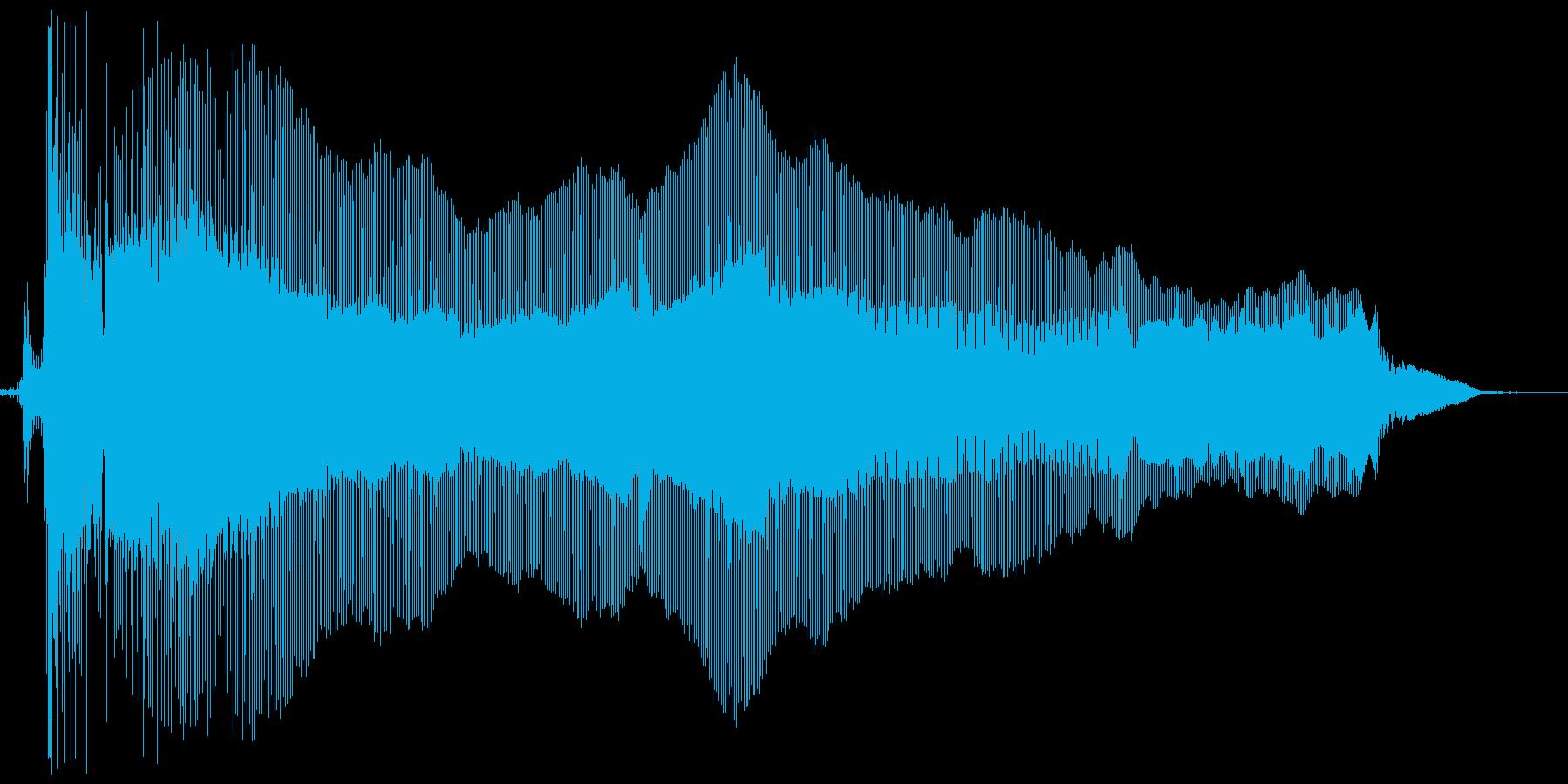 プ~ゥゥ。おならの音(高め・長め)の再生済みの波形