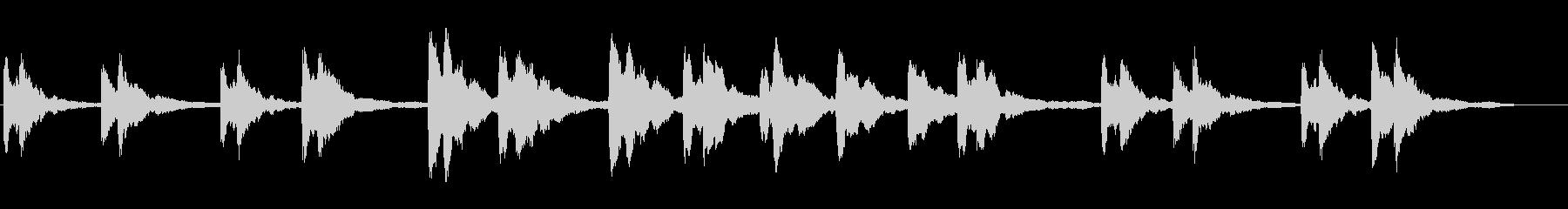 シンプルなピアノソロの未再生の波形