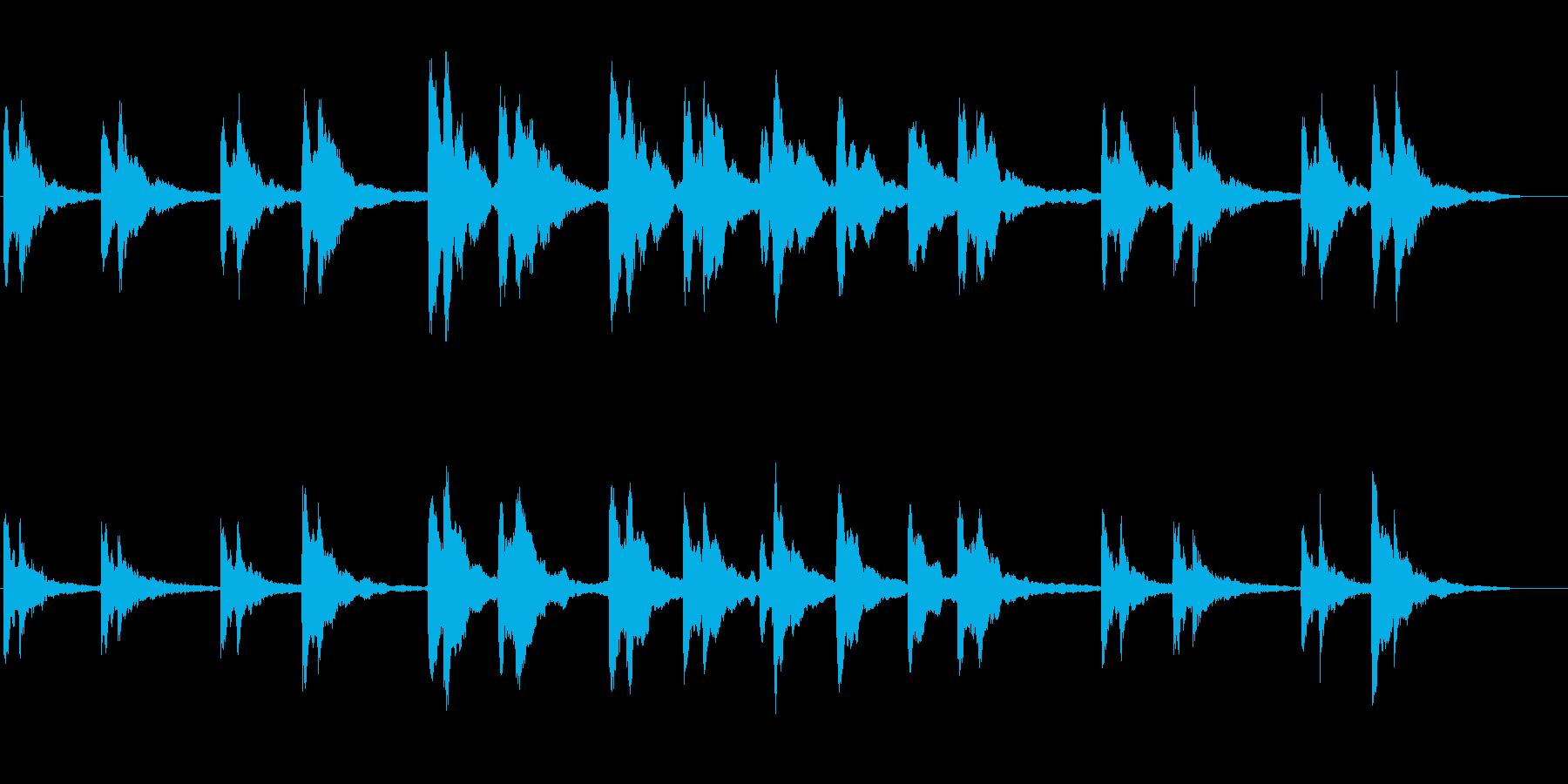 シンプルなピアノソロの再生済みの波形