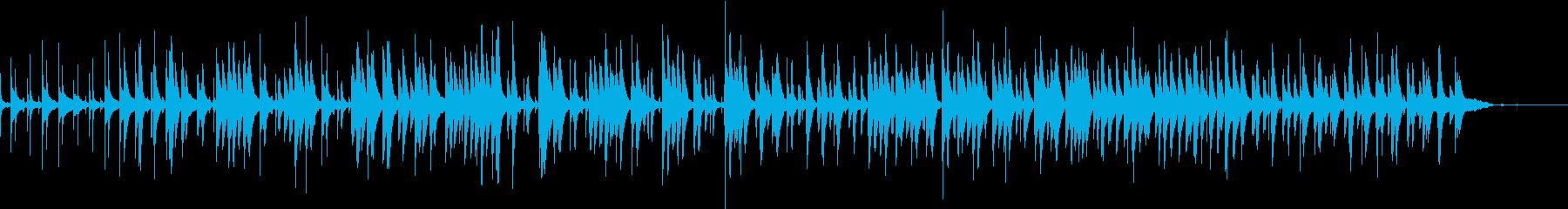 神秘的で可愛らしいパーカッション曲の再生済みの波形