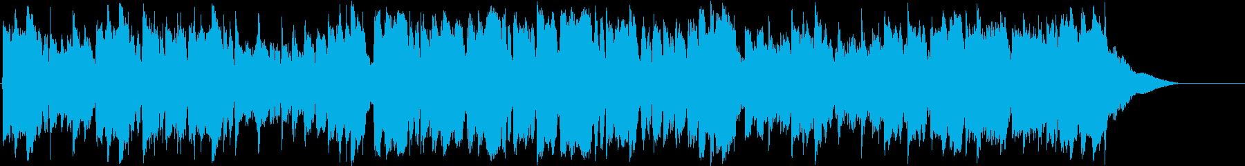 ほのぼのして温かい紀行風BGMの再生済みの波形