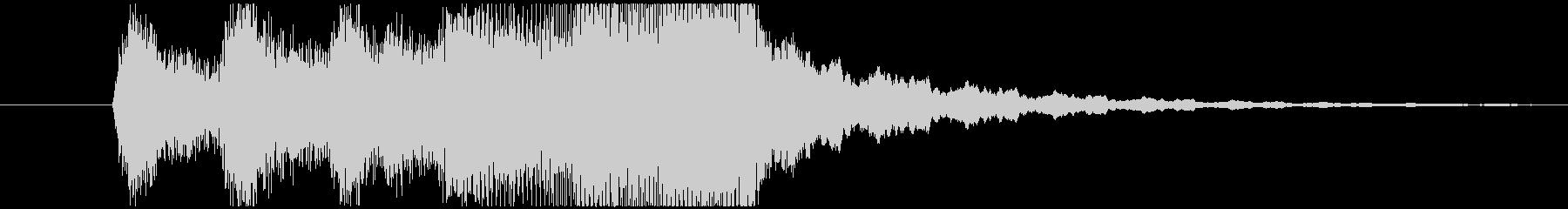ストリングスによるジングルの未再生の波形