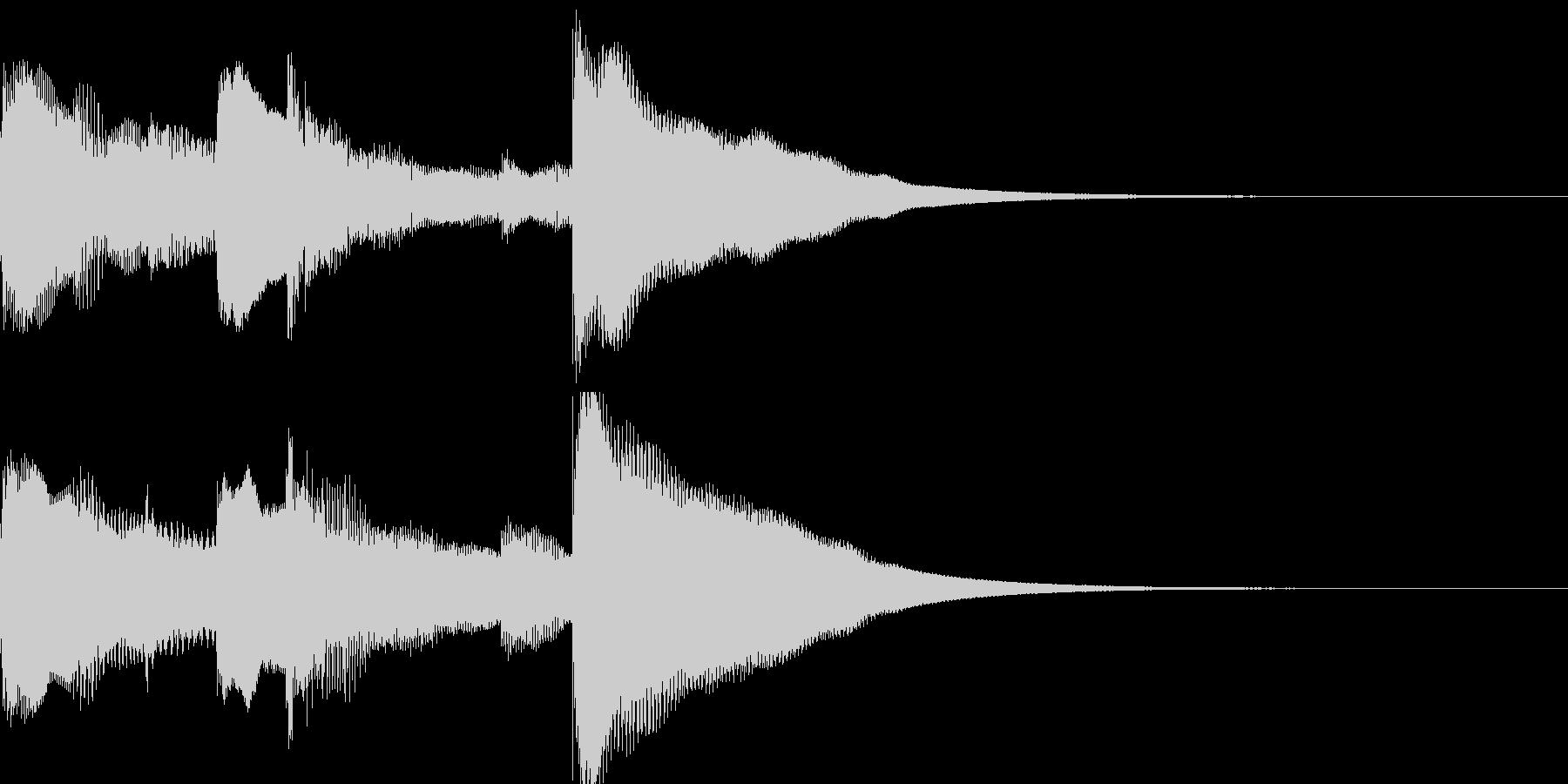 チャイム 場面転換の未再生の波形